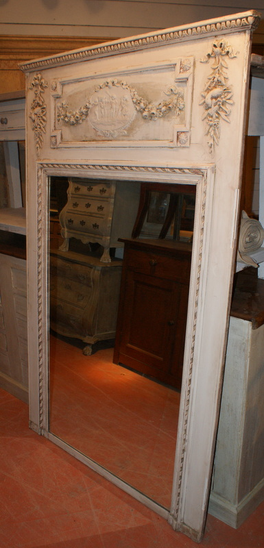 Carved French Trumeau mirrors