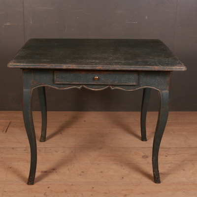 Compact French Desk/Lamp Table