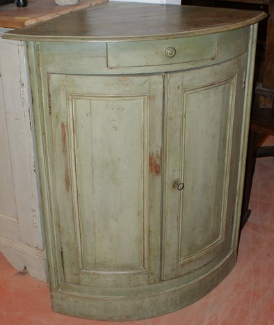 Early 19th C  French Corner Cupboard.
