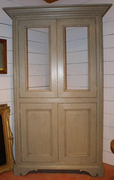 Custom Built Pair Of French Style Display Cabinets.
