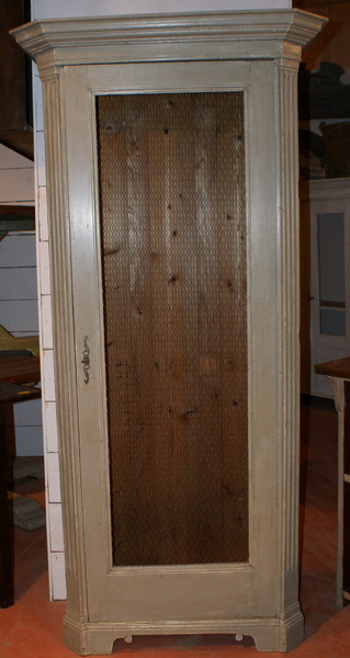 Tall Narrow Wire Door Cupboard.