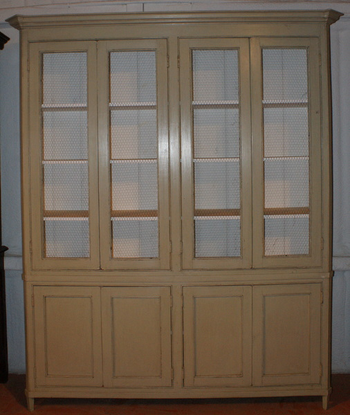 Custom Built Swedish Style Wire Door Bookcase.