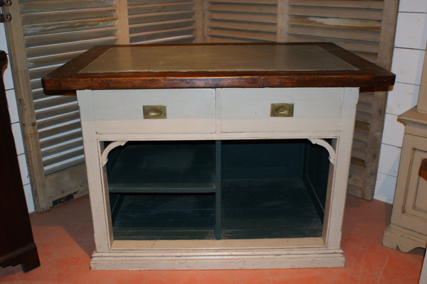 Painted Zinc Top Counter