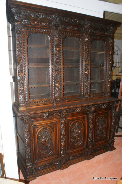 Carved Oak Hunt Buffet