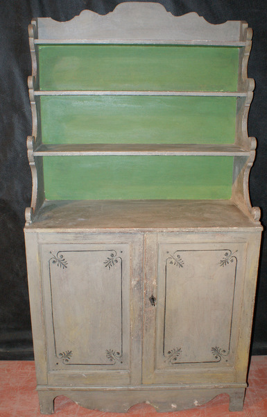 Painted Regency Bookcase.