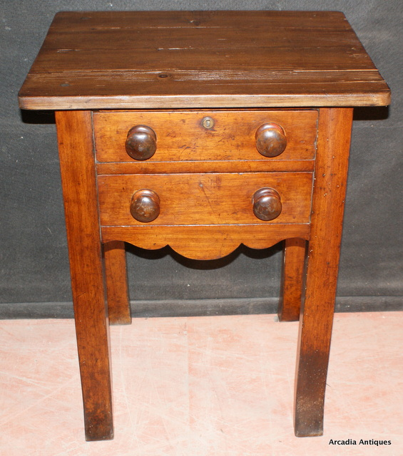 Fruitwood and Pine Side Table