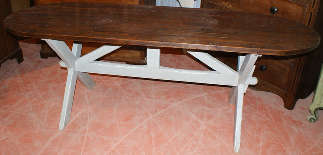 Painted Trestle Table.