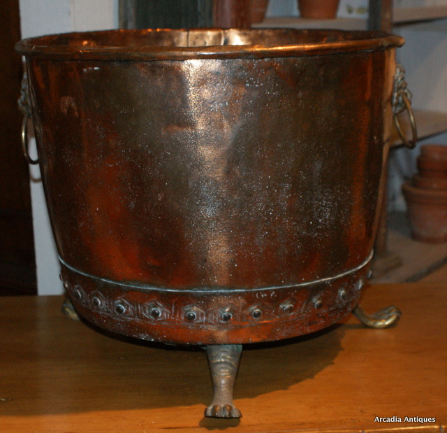Copper & Brass Log Bin