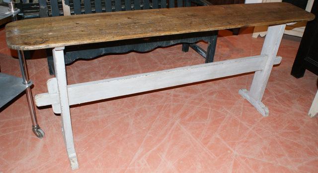 Narrow Trestle Table.