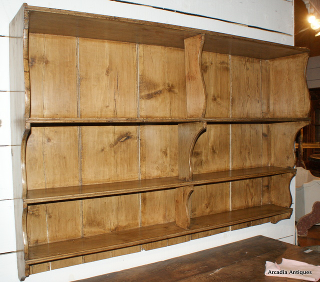 Antique Pine Hanging Shelves