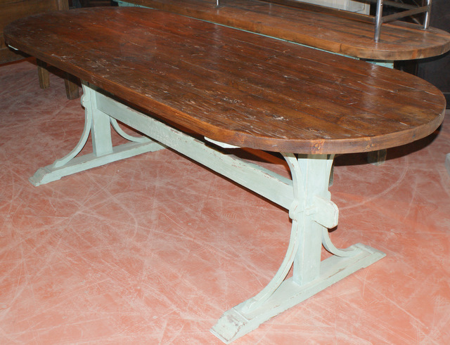 Custom Built Trestle Table