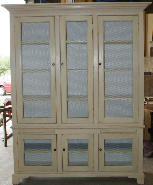 Custom Built Wire Door Bookcase.