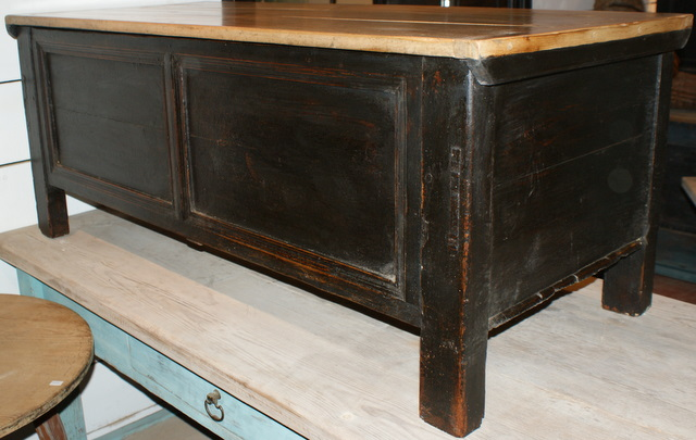 Black Painted Coffer