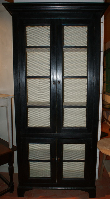 Black Wire Doored Cupboard
