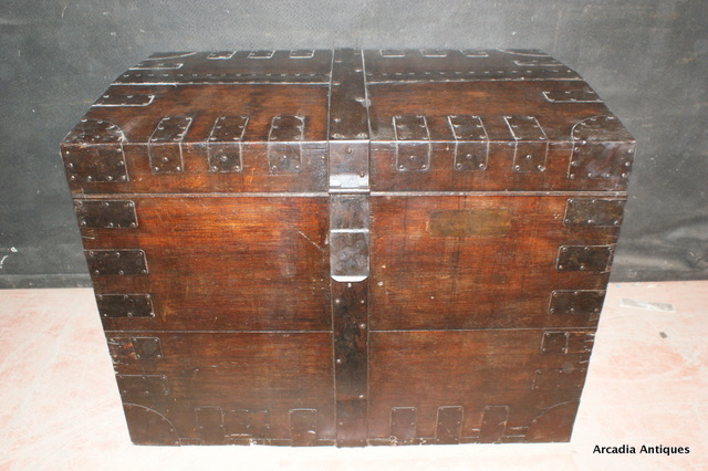 Oak and Iron Bound Sea Chest