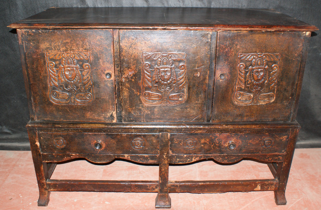 Spanish Leather Covered Buffet