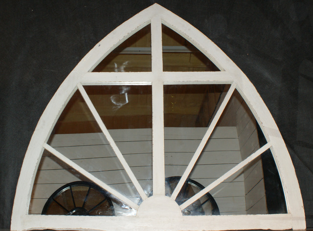 19th C French Arched Window Mirrors