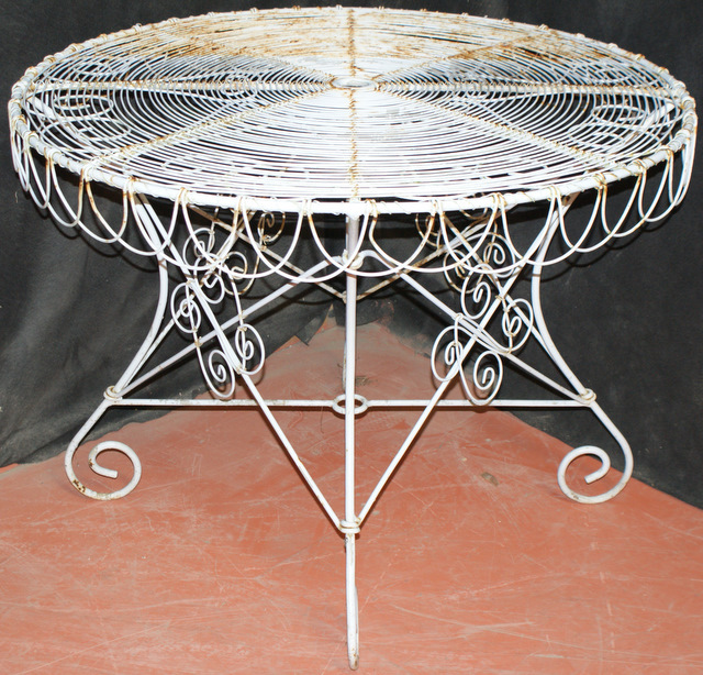 french wire garden table