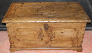Pine Carved Coffer