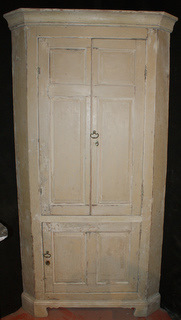 Original Painted Corner Cupboard