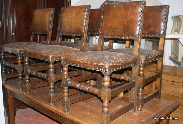 8 Oak and Leather Dining Chair