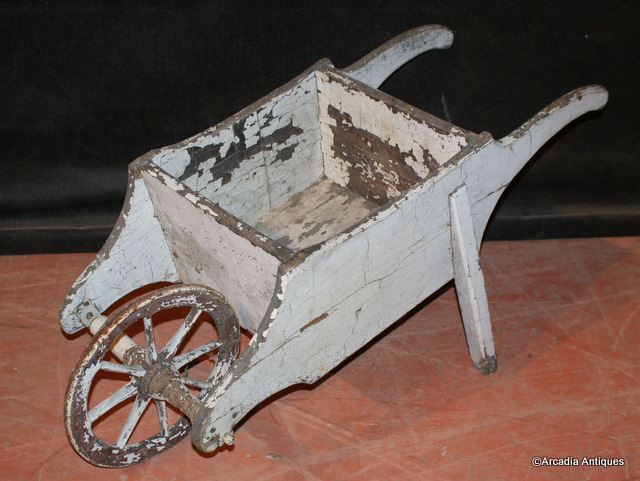 Painted Childs Wheel Barrow