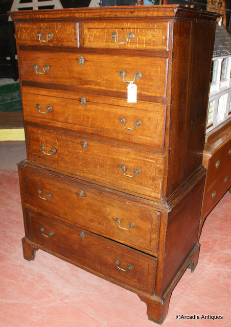 Oak Chest-on-Chest