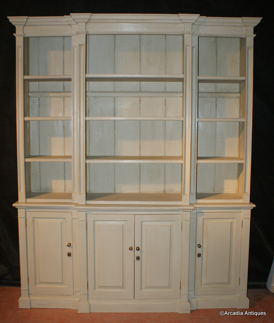 Custom Built Break Front Bookcase