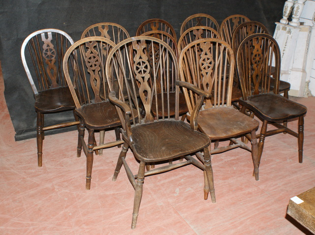 12 Hoop Back Windsor Chairs