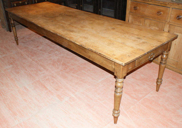 Large French Sycamore And Oak Farm Table ...