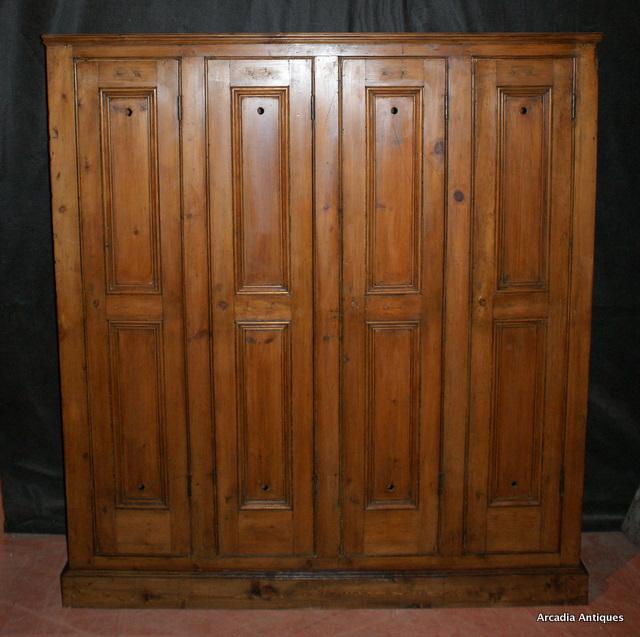 Victorian Locker Cupboard Antique Cupboards