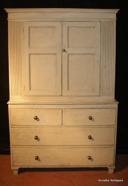 Painted Pine Butlers Cupboard