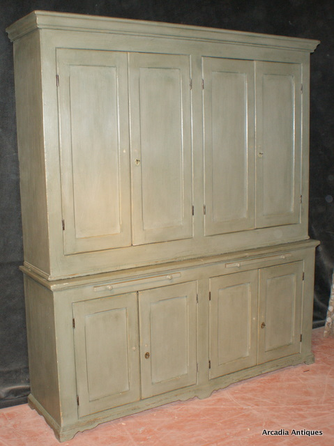 Welsh Painted Butlers Cupboard