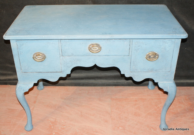 Painted Low Boy Desk