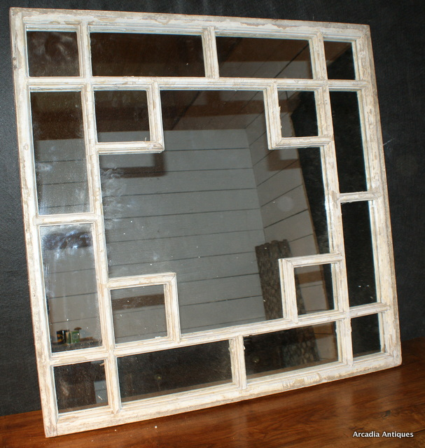 Original Painted Window Mirror
