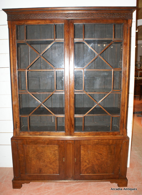 Mahogany Astregal Glazed Bookcase