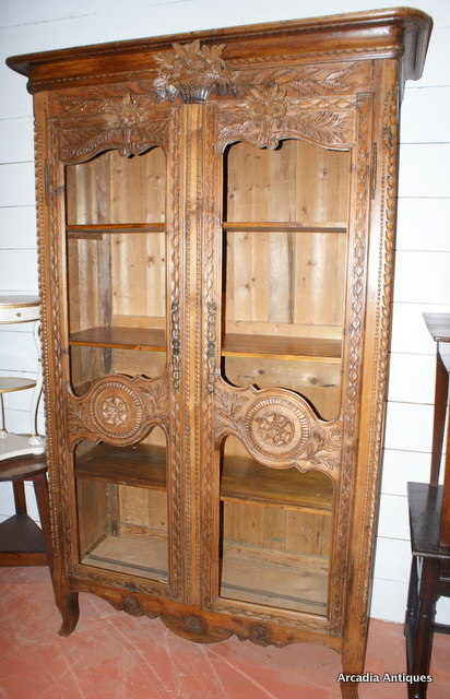 French Carved Pine Bookcase