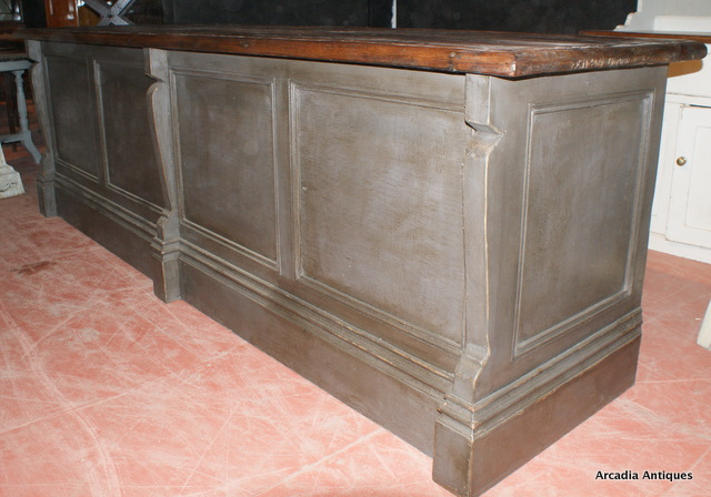 Painted French Shop Counter