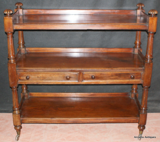 Mahogany Dumb Waiter