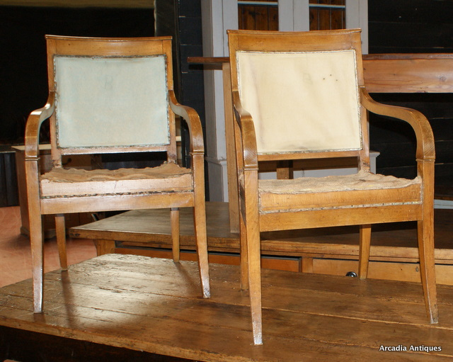 Continental Fruitwood Chairs