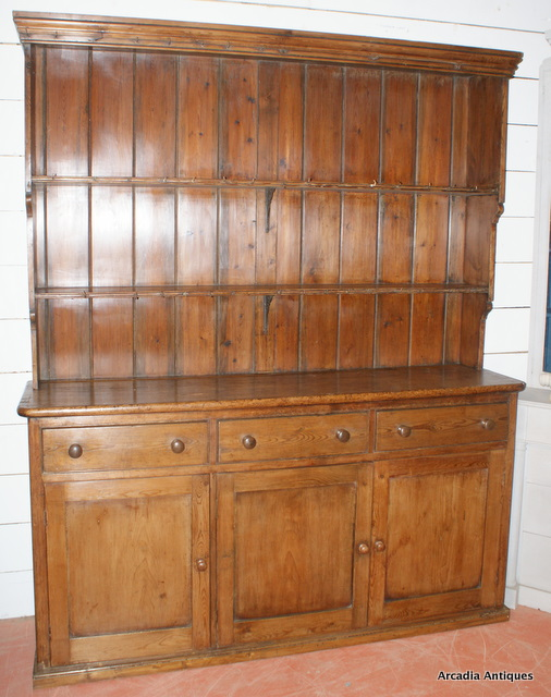Patinated Pine Farmhouse Dresser