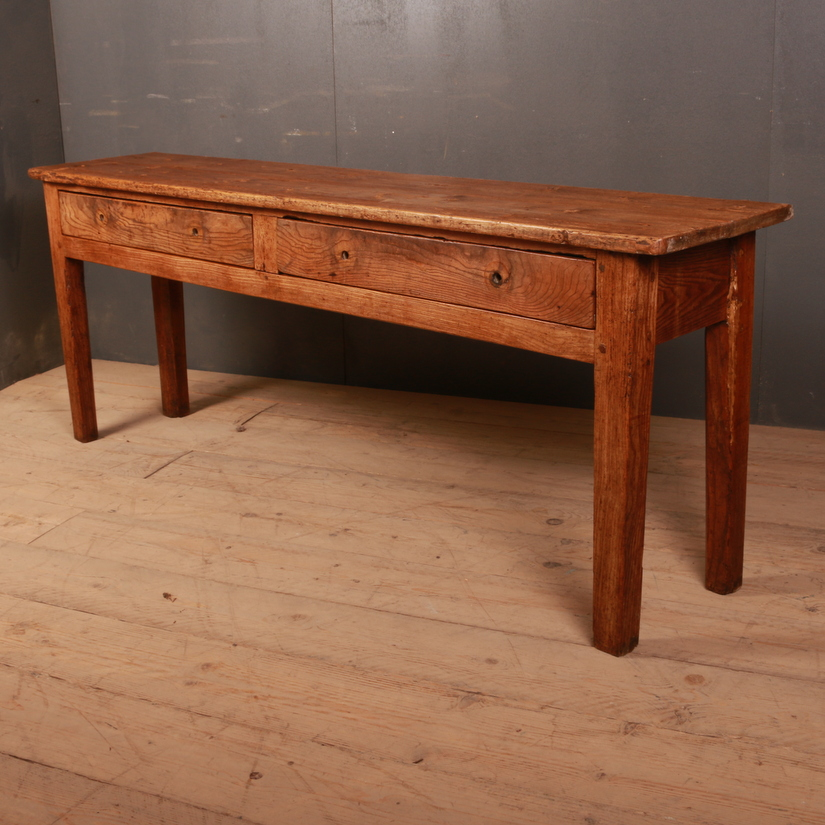 Antique Ash and Pine Serving Table