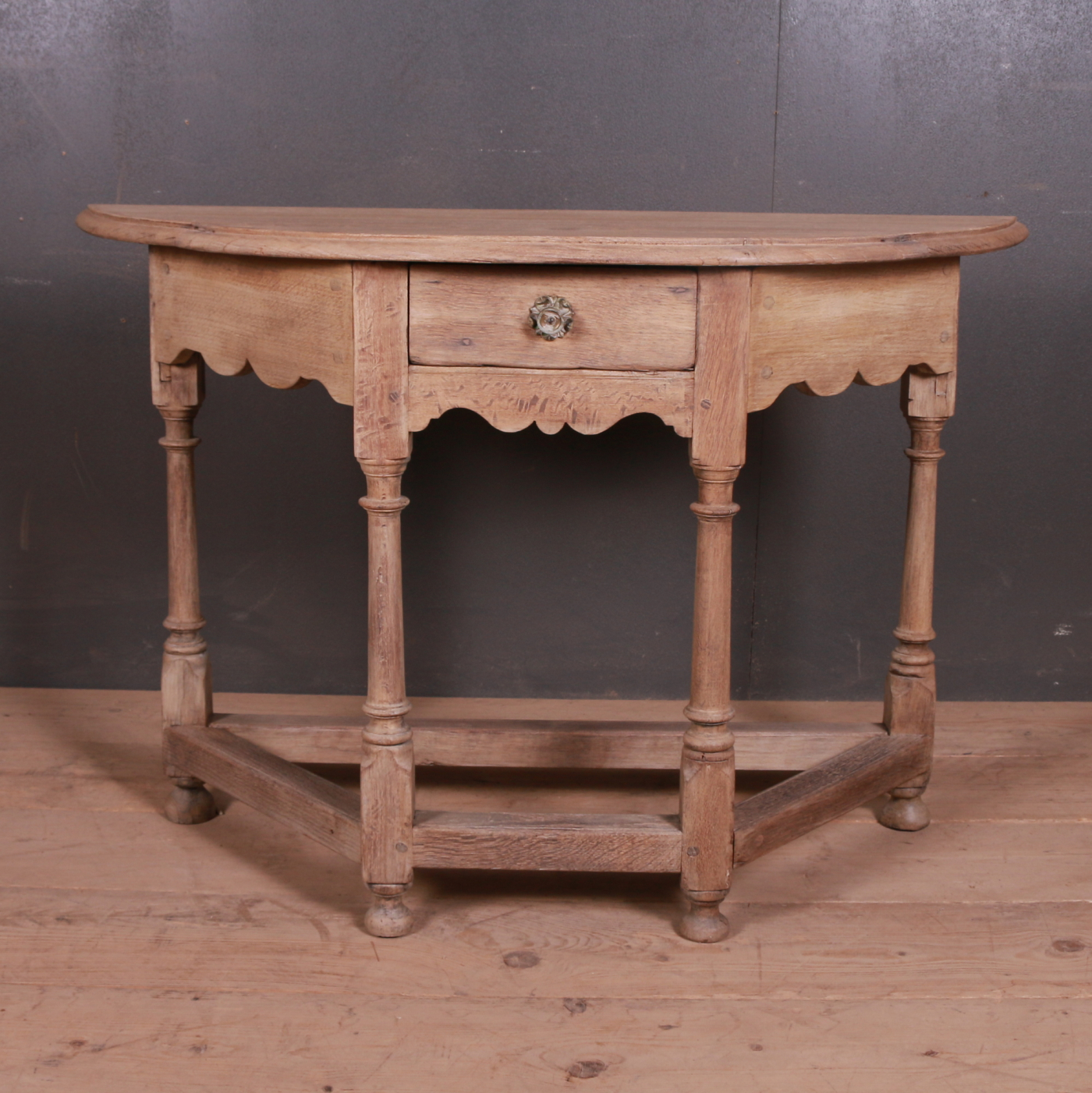 Bleached Oak Console Table