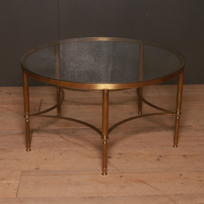 Brass and Glass Circular Table