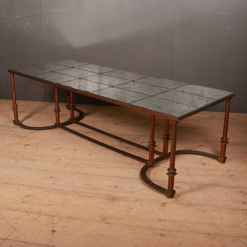 Distressed Mirror Coffee Table
