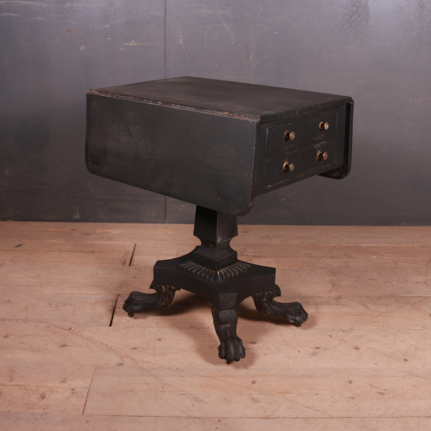 Drop Leaf Lamp Table