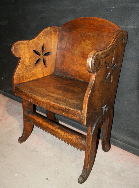 Antique Penwork Chair