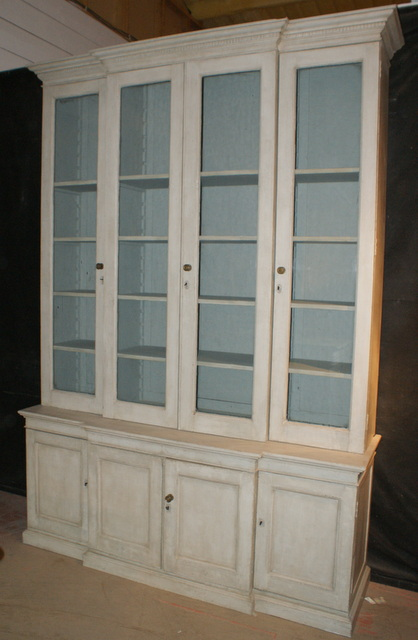 English Style Breakfront Bookcase