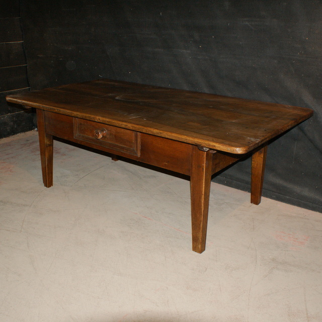 Large French Coffee Table: French Walnut Low Table