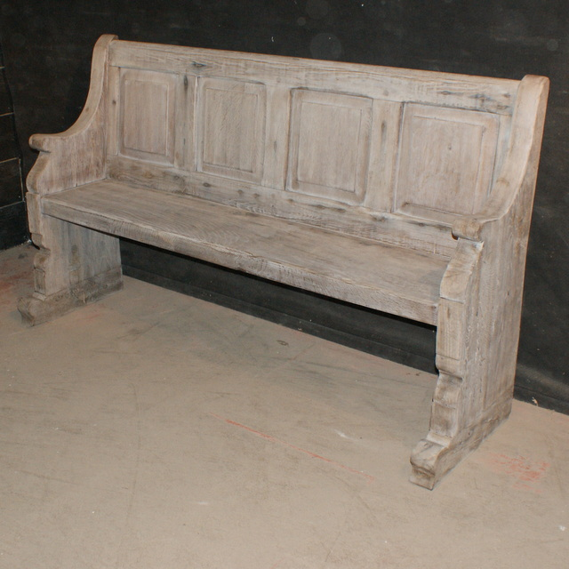 Antique Bleached Oak Bench